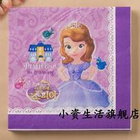 NP287 3 packs 60pcs Princess Sofia Napkin Paper 100% Virgin Wood Tissue for Kids Princess Sofia Party Decoration