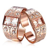 Watch Woman Luxury Brand Rhinestone Casual Watches Women Dress Watches Rose Gold Bracelet Ladies Wristwatches Feminino Relogio g