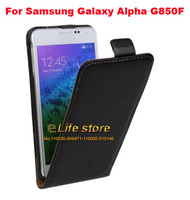 100% Genuine Leather Case Flip Cover Mobile Phone Pouch Cell Phone Case For Samsung Galaxy Alfa Alpha SM-G850F