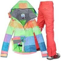 New 2014 winter female skiing jackets Gsou woman ski coat snowboard ski suit women snow wear jacket