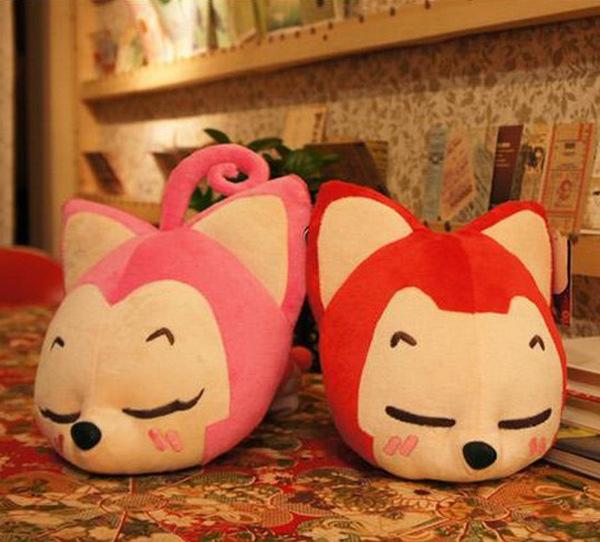 bonito dos desenhos animados raposa dolls cartoon almofada de pelúcia boneca, bonito cartoon brinquedo de pelúcia boneca(China (Mainland))