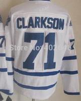 Toronto #71 David Clarksson white hockey jerseys