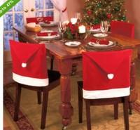 2014 Christmas chair covers Christmas hats Christmas necessities Christmas chair covers OEM available 12pcs/ lot