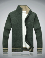 2014 Men's Sweater Coat  Warm Wool Liner Outwear Casual Coat For Winter Big Size MWK058