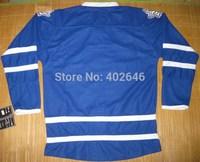 ice hockey jerseys, toronto hockey home blue blank jerseys, no name, no number. please read size chart before order