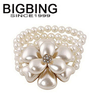 BigBing  jewelry fashion jewelry  pearl flower Stretch Bracelet charm bracelet  fashion Bracelet fashion jewelry Q637