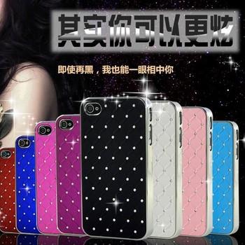 Только 0.99 $ полный звезда дизайн роскошный кристалл алмаза кожа пластик твердый переплет чехол для iphone 4 4S 4 г ультра тонкий телефон задняя крышка FLM