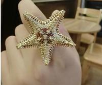 Starfish Ring 2014 Korean version New Jewelry Wholesale