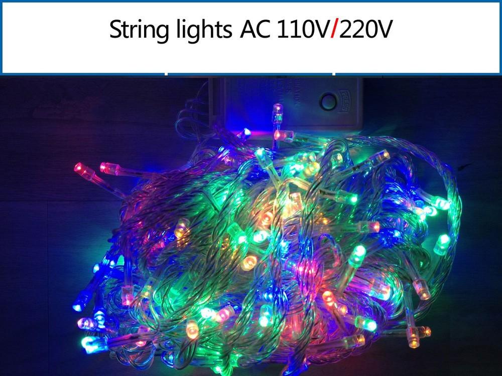 String Of Blue Lights Song : C&S 30 bulb lamb Fair LED string 110 220v Christmas Lights String Light Holiday Decoration ...
