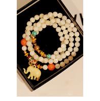 [Mix 15USD]Retro Jewlery Multilayer Stretchy Nature shell Crystal beads Bracelet with lucky elephant