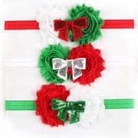 6 pieces/lot  fashion baby girls flower headbands infant elastic bow hair band newborn hair accessories bebe christmas headbands