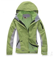 Free shipping 2014 women's outdoor sports ski suit jacket suit hoodie warm waterproof coat lady climbing