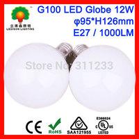 Free Shipping G100 LED Globe Bulb Light 12W E27 Dia95x126mm G95 White/Warm White Colors