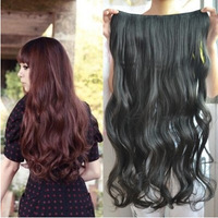 Wig Piece Snap Long Curly Hair Piece Big Wave Long Hair Can Be Straightened Hot Roll Simulation Free Shipping