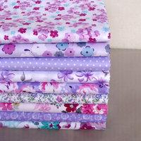 9 pieces 40cm*50cm Purple Series Cotton Patchwork Fabric Quilting Tissue Sewing Textile Tilda Doll Cloth