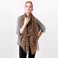 LingYangZaoAn  female   Leopard chiffon scarf long section  wh293