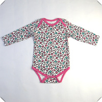 baby girl bodysuits long sleeve 100% cotton toddler's bodies clothing one-pieces onesie tops vest  9-18 month