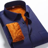 Big Plus Size Men's Shirts 2014 Winter Warm Casual Long Sleeve Mens Shirts Men's Casual Shirts Size:XS-6XL