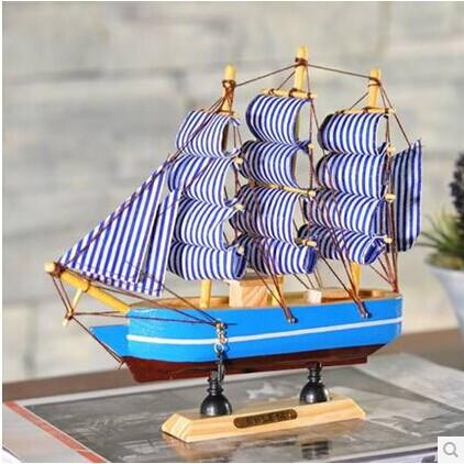 The Mediterranean-style ornaments handmade wooden ornaments process simulation model boat sailing 20cm(China (Mainland))