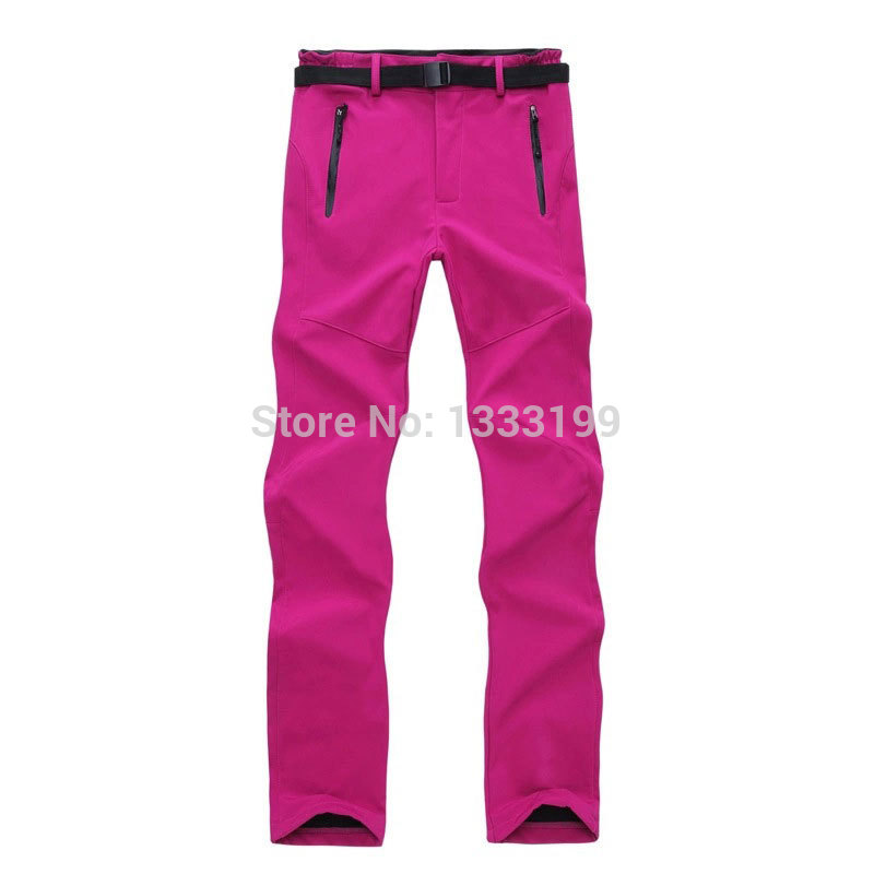 Outdoor Softshell Pants Women,Camping Climbing Trekking Hiking Pants,Winter Waterproof Pants,Fleece Trousers,Outdoor Clothing.(China (Mainland))