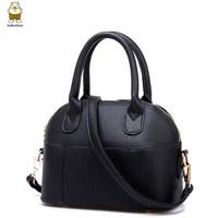 Hand bag small bolsas femininas 2014 bags handbags women famous brands solid pu leather small shell shaped women messenger bags