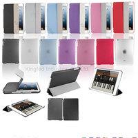 500 pcs/lot Magnetic Ultra Thin Smart Cover + Back Case For New iPad mini