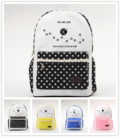 KPOP New Sale EXO We Are One Preppy Style Schoolbag Pink Black Yellow Blue 4 Colors Backpack QSB002