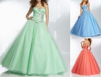 2014 Stock Tulle Bridesmaid Dresses Prom Party Gown Prom Wedding Dress 6-16