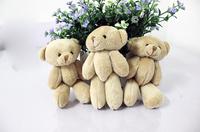free shipping 12pcs/lot Christmas Gift Nude Bears 12CM plush stuffed teddy bear joint bear mini bear Christmas Tree Pendant