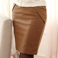 New Arrival Black Camel Color High Waist Pencil Skirt Women 2014 Knee-Length Bust Black Work Skirts Saias Femininas M005