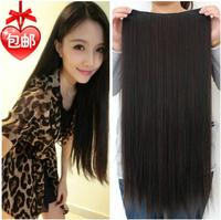 Seamless One Piece Hair  Wig Super Straight Hair Length Hair Becomes Women Fake Hair Piece Free Shipping