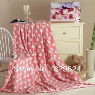 Coral fleece blanket flannel FL thickening fleece blanket air conditioning blanket winter bed sheet summer blanket(China (Mainland))