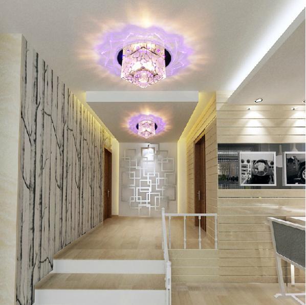 3W led spotlight lamps for home modern crystal ceiling living room light hallway lighting fixture AC200-240V abajur luminarias(China (Mainland))