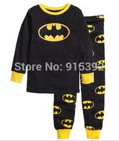 2014 Batman pajamas baby Pajamas Kids Pyjamas Baby boys Cartoon Sleepwear Children Wear baby clothing 2pcs/set FREE SHIPPing