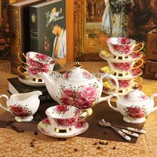 15 Rose of England European Bone China Tea Coffee Set ceramic coffee cup and saucer pot