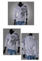 2014 Spring Fashion New Hoodies Sweatshirts,Dragon Printed Outerwear Hoodies Clothing Men.Outdoor Hoodies Men,Boys Sports Suit