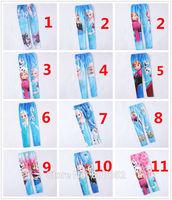 Free Shipping New 2014 Baby Girls Frozen Leggings Kids Frozen Pants 3-10 Year Girl Frozen Leggings One Piece Retail