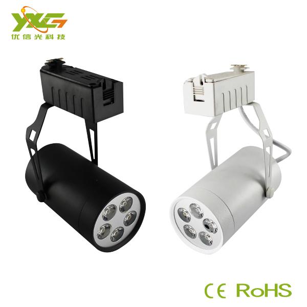 High quality LED Spotlight display Aluminum 5W high power Led track lights lighting 110V 220V warm white Free shipping(China (Mainland))