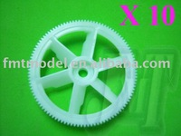 F00213-10 ,   10 x White autorotation tail drive gear for  TREX  T-REX 450 HS1220 + Free shipping