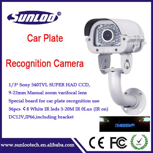 sony ccd lente varifocal manual carro ir placa cctv câmera captura(China (Mainland))