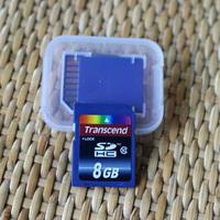 Wholesale price Real capacity SD CARD micr sd card 8GB SDXC Transflash flash Memory Card+white plastic box pass h2testw