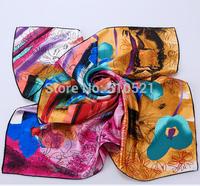 90x90cm 100% silk scarf brand fashion luxury scarves women Desigual mix wholesale  free shipping