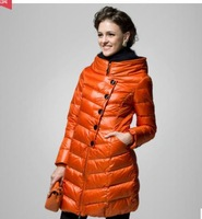 Brand High quality Women down jacket Fashion collar single-breasted Long thick in winter, women winter coat, parka women, XS-XXL