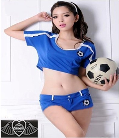 women fashion sexy cosplay Sports Costume Football Baby singer suit WL1021(China (Mainland))
