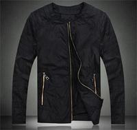 2014 New Autumn Spring Men Jacket Coat Solid Jacket Slim Outwear Jackets