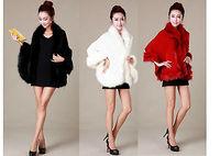 2014 Autumn and Winter New Elegant Women Shawl imitation fox fur cape  Casual coat jacket women fur & leather Cloak 7 Color