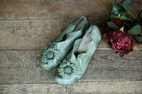 Papaveric women's  sheepskin flats 100% genuine leather flower flats shoes female super beautiful color flats