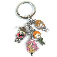150pcs/lot Anime Cartoon Uta no Prince Sama Metal Figure Keyring Keychain
