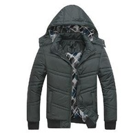 2014 New Men Sports Cotton-padded Jacket Coat Brand Men Outwear Fleece Thickening Hooded Coats 3 Colors