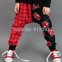 Free shipping! spring autumn children kids Spider-man style children's pants baby cotton pants 5pcs/lot
